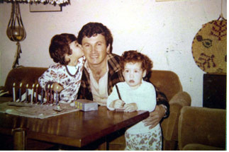 Danny Haran and his two daughters, Einat and Yael, victims to Samir Kuntar and his friends in 1979.