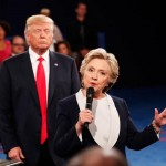 "All time low for leftist media, accusing Donald Trump of ""stalking"" Hillary during the second 2016 debate."