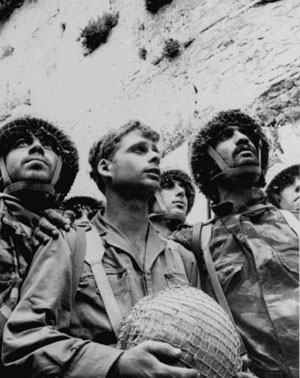 IDF Paratroopers at Western Wall