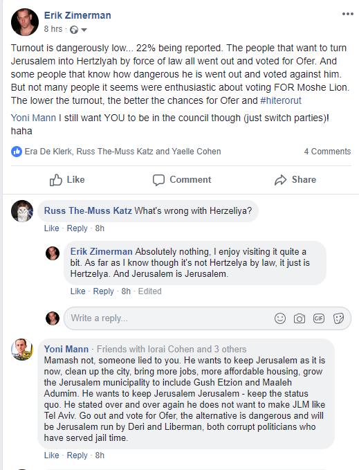 Jerusalem Election Update